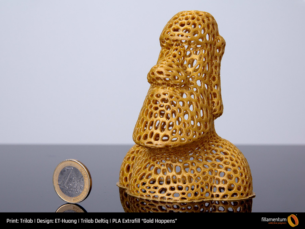 Fillamentum PLA Extrafill Everybody's Gold Happens